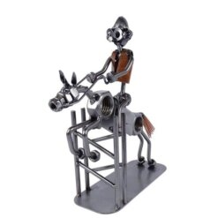 Figurine métal cavalier