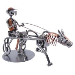 Figurine équitation trot attelé