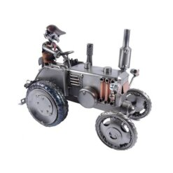 Figurine métal métier agriculteur