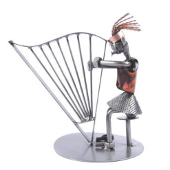 Figurine harpiste femme
