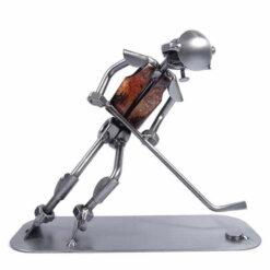 Figurine hockeyeur en métal