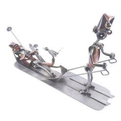Figurine skieur blessé
