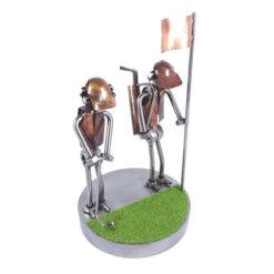 Figurine joueur de golf au putt