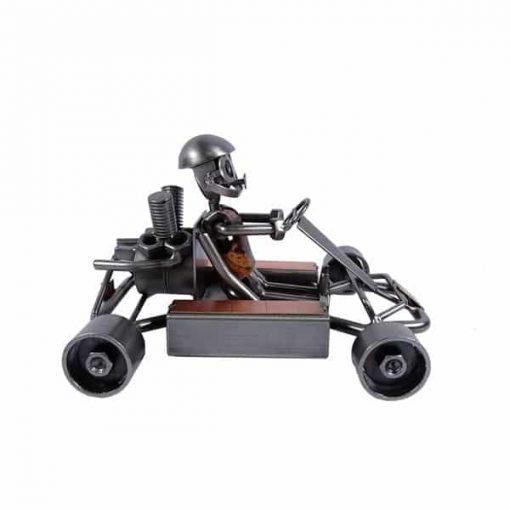 Figurine métal karting