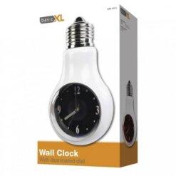 Horloge murale ampoule