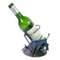 Porte bouteille métal vin Taureau