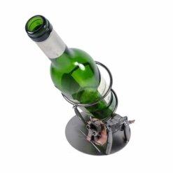 Porte bouteille métal vin Lion