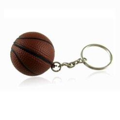 Porte-clés Basketball Marron