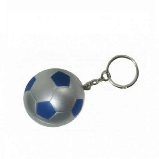 Porte-clés ballon Foot Bleu et argent