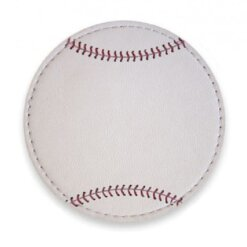 Sous verres Baseball - 9 cm