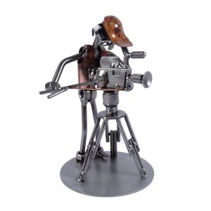 Figurine cameraman en métal