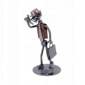 Figurine commercial en métal