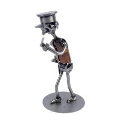 Figurine policier en métal