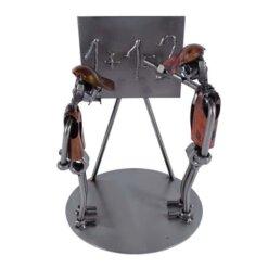Figurine professeur mathématique en métal