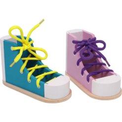 Chaussures a lacer colorées