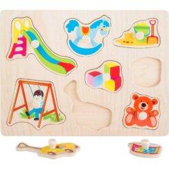Puzzle bois bébé forme jouet