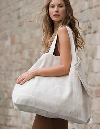 sac de shopping femme : grand sac en toile